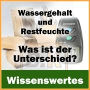 Wassergehalt oder Restfeuchte von Brennholz - Was ist der Unterschied? Beitragsbild