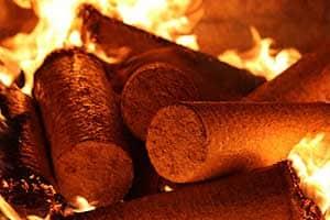 Holzbriketts hoher Heizwert