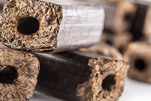 Holzbriketts mit niedriger Restfeuchte