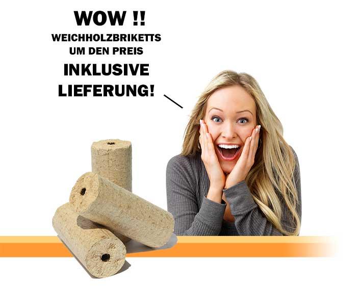 Weichholzbriketts günstig online kaufen