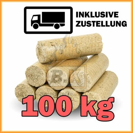 100 kg Weichholzbriketts mit Lieferung - 10 Pakete á 10 kg