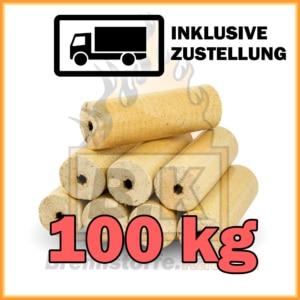 100 kg Holzbriketts hell - Weichholzbriketts kaufen mit Lieferung