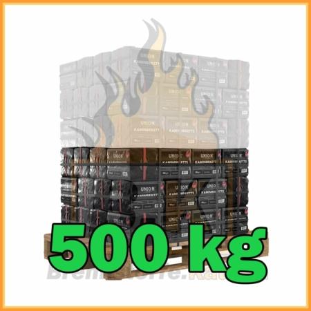 500 kg Union Kaminbriketts mit Lieferung