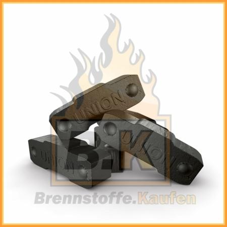 Union Briketts - Kaminbriketts - einzelne Brikettstücke