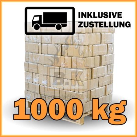 1000 kg Buchenholzbriketts ziegelform RUF mit Lieferung - 100 Pakete á 10 kg