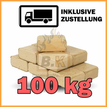 100 kg Buchenholzbriketts ziegelform RUF mit Lieferung - 10 Pakete á 10 kg