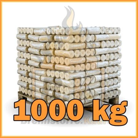 1000 kg Weichholzbriketts mit Lieferung