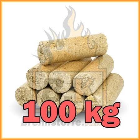 100 kg Weichholzbriketts mit Lieferung