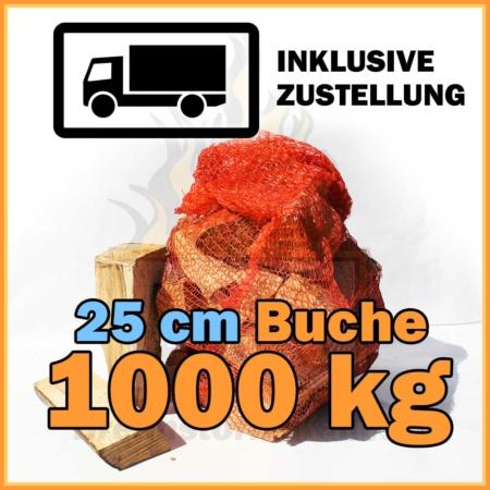 Brennholz 25 cm Kaminholz 1000 kg