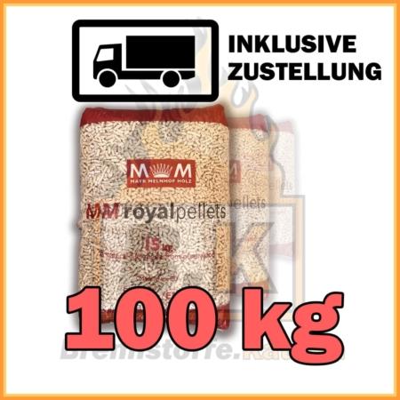 100 kg Pellets kaufen - 100 % Fichtenholz mit Lieferung - MM royalpellets