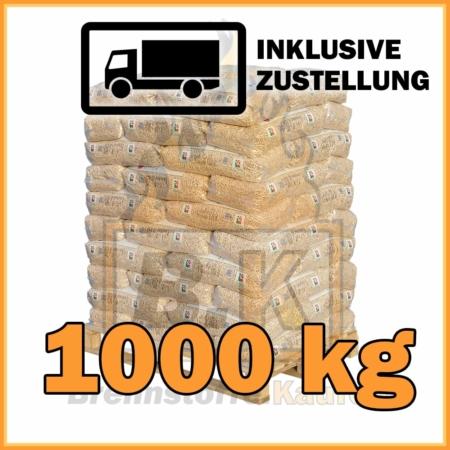1000 kg RZ Pellets 15 kg Sackware mit Lieferung