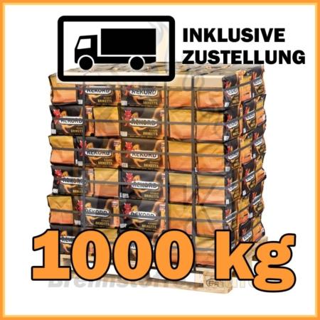 1000 kg Rekord Briketts mit Lieferung