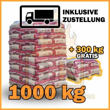 1300 kg Pellets Aktion mit Lieferung - 86 Säcke á 15 kg - ENplus A1