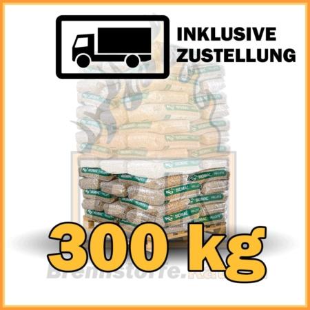 300 kg Biomac Pellets 15 kg Sackware mit Lieferung - 100% Fichtenholz