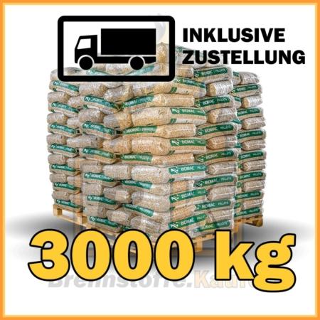 3000 kg BIOMAC Pellets 15 kg Sackware mit Lieferung - 100% Fichtenholz