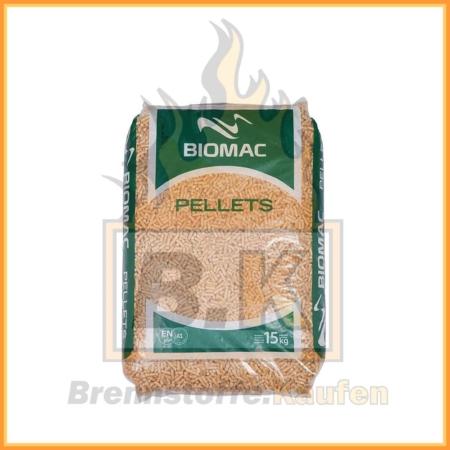 Biomac Pellets Sackware 15 kg ENplus A1 - 100% Fichtenholz