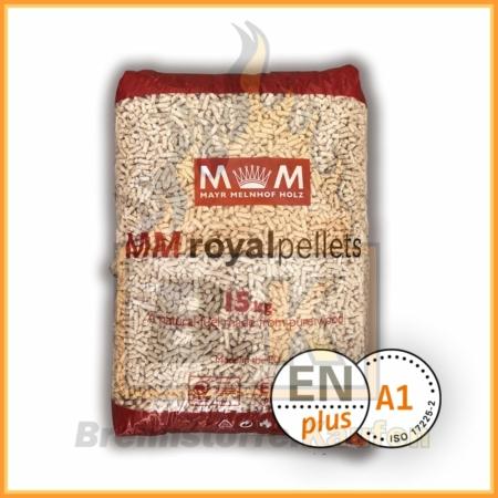 Holzpellets aus 100% Fichtenholz im 15 kg Plastiksack - Inklusive Lieferung - MM royalpellets