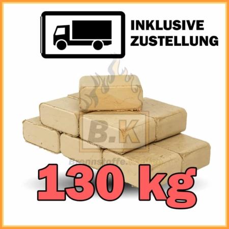 130 kg Buchenholzbriketts ziegelform Ruf Hard mit Lieferung
