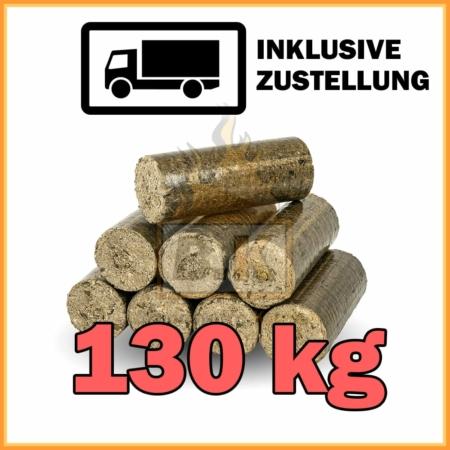130 kg Hartholzbriketts in 10 kg Pakete mit Lieferung