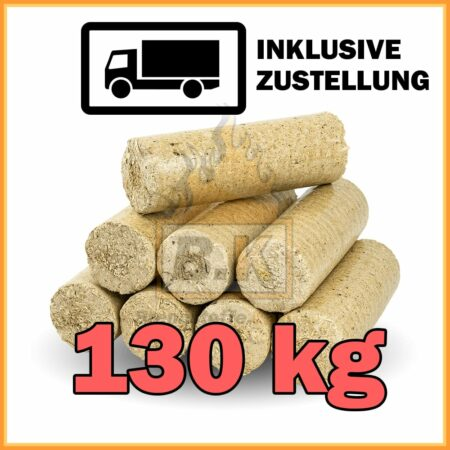 130 kg Weichholzbriketts in 10 kg Pakete mit Lieferung