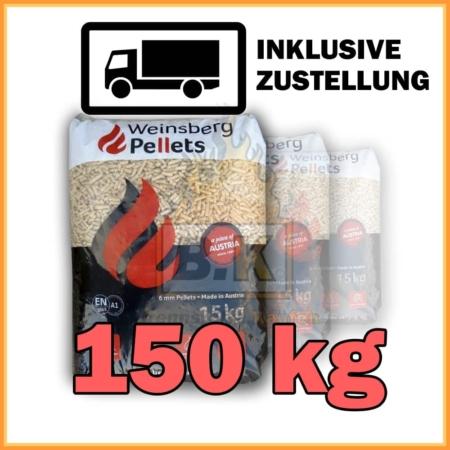 150 kg Weinsberg Pellets - 10 Säcke á 15 kg mit Lieferung